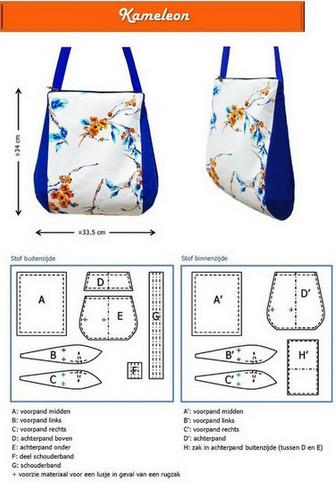 Простые, но очень красивые сумки + выкройки