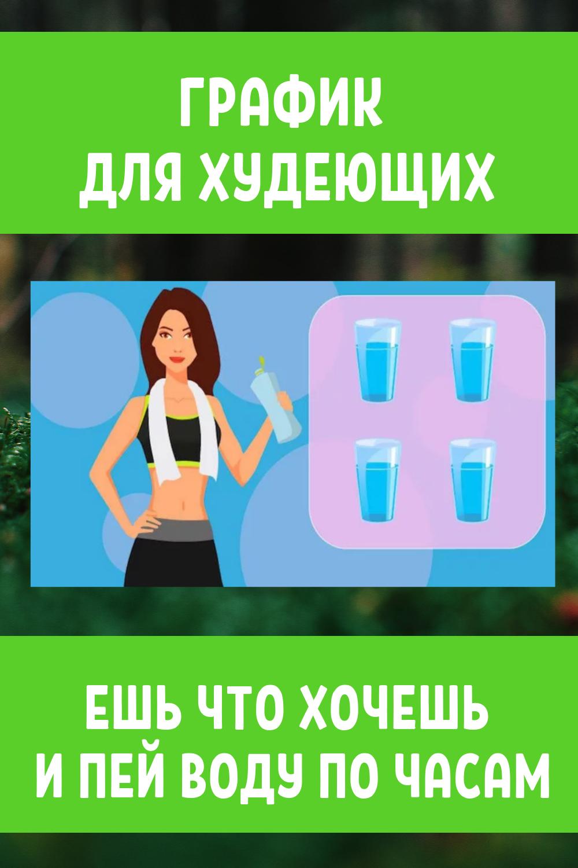 График для худеющих: ешь что хочешь и пей воду по часам. Результат — минус 15 % жира...