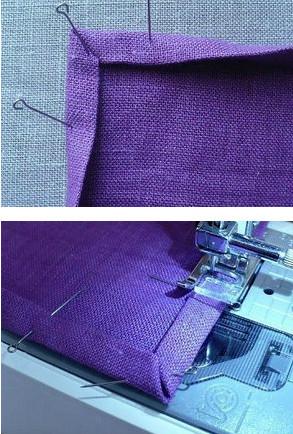 Обработка срезов ткани под прямым углом...