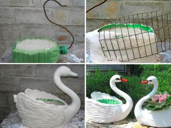 Моя бабушка научила меня делать садовых лебедей. Вы никогда не угадаете из чего!