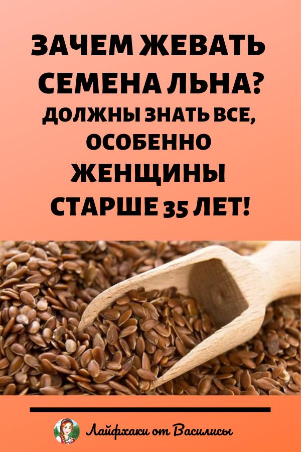 Зачем нужно жевать семена льна. Здоровье