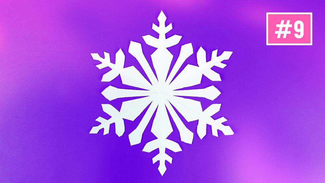 Как красиво вырезать снежинку из бумаги #9/ DIY Новый год