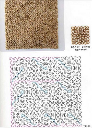 Очень много схем для безотрывного вязания…